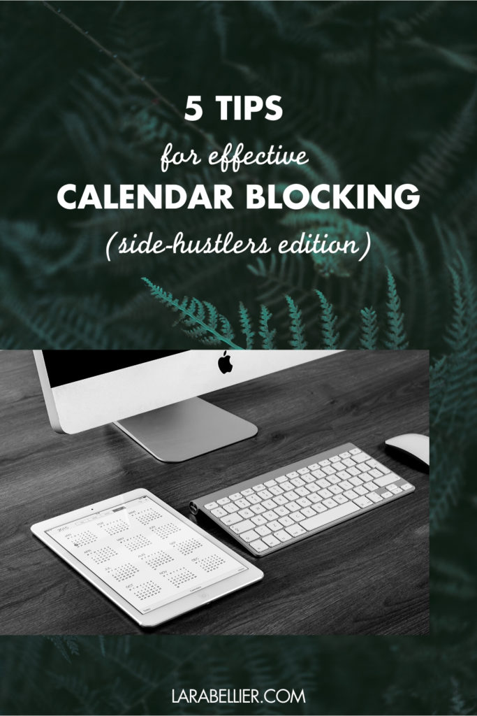 Image article 5 tips for effective calendar blocking as side-hustlers